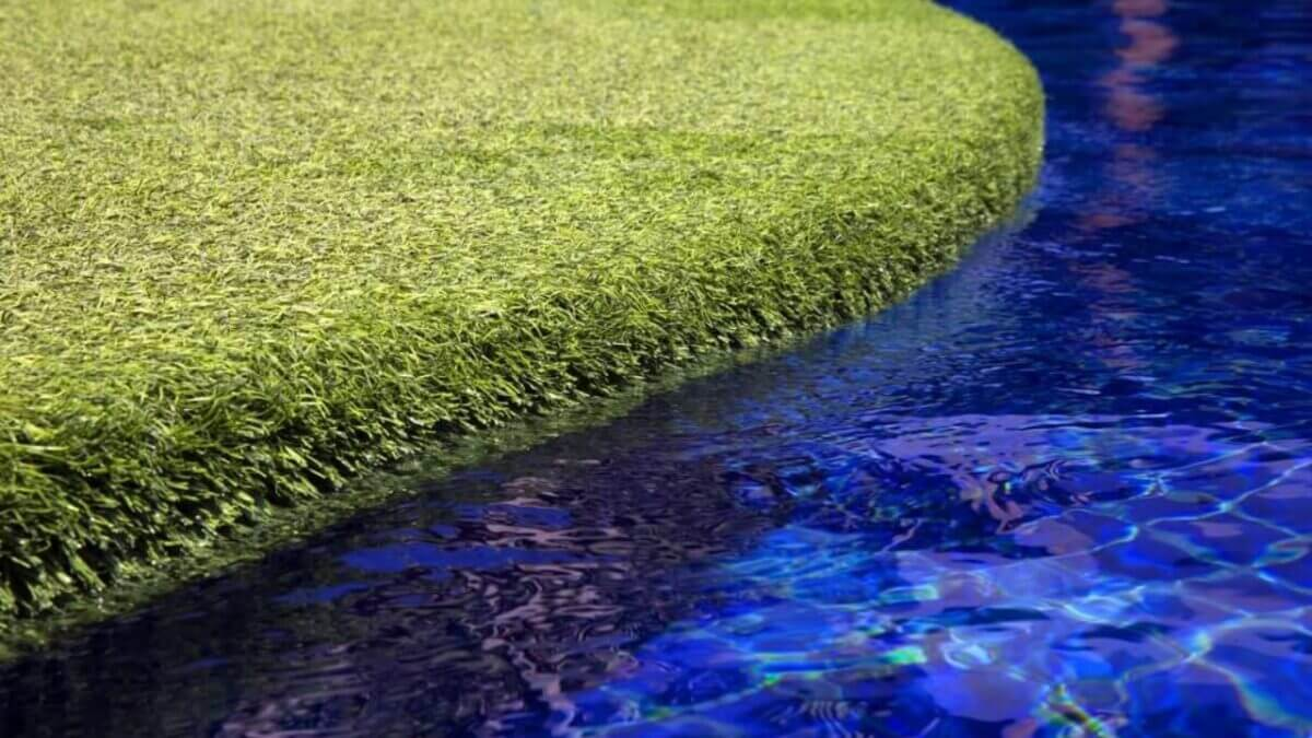 Artificial Turf Around Pool